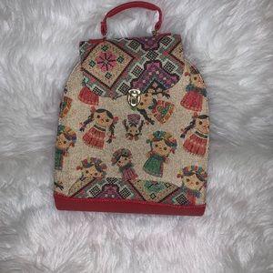 Handbags - Red back pack/purse
